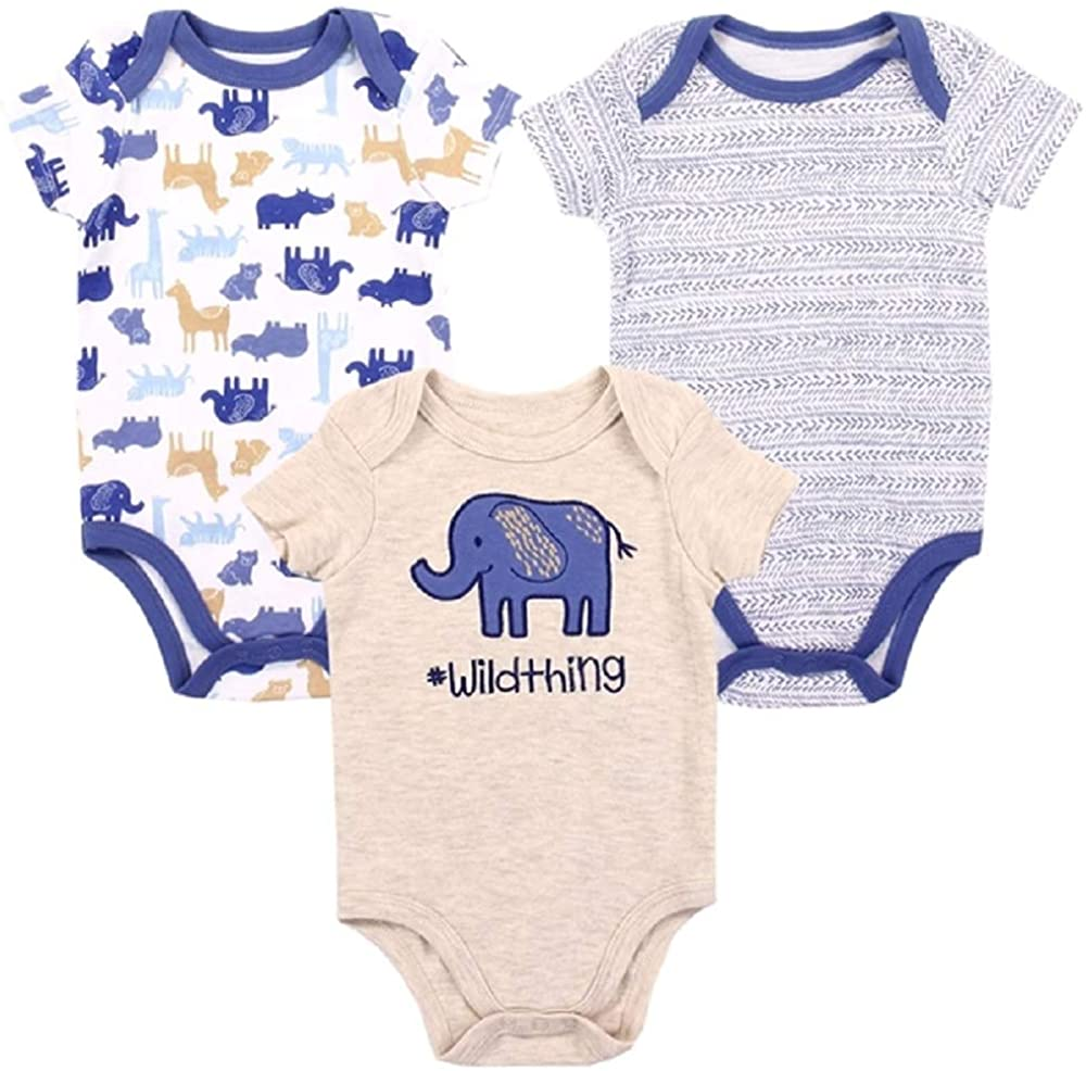 Weeplay Baby Boy's 3 Pack Bodysuits