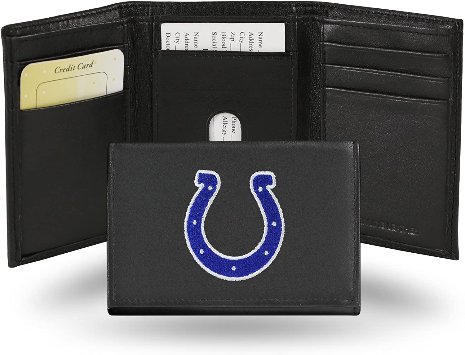 Rico Indianapolis Colts Embroidered Tri Fold Wallet