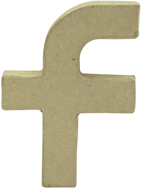 décopatch Papier Mache symbol, 1.5x8.5x12cm, Brown