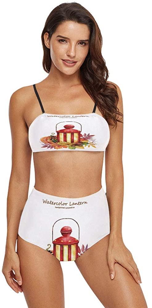C COABALLA Women's Printing 2 Piece Bikini Sets Swimsuits -Watercolor SW07907