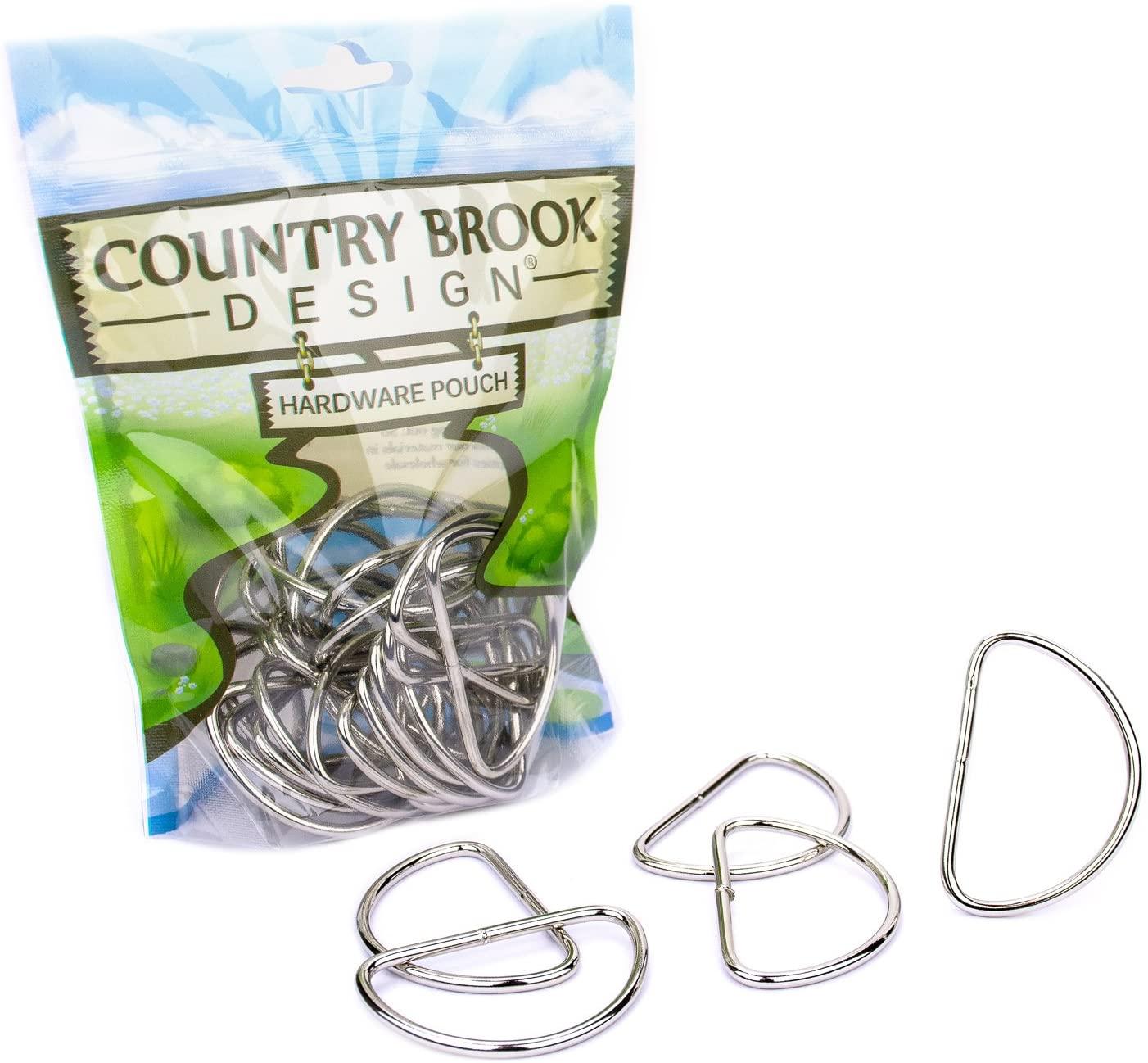 Country Brook Design - 2 Inch Nickel Plated Welded Lite D-Rings (50 Pack)