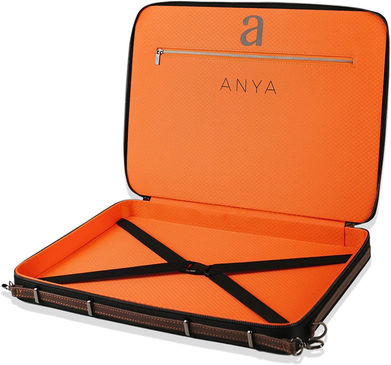 "Luxury Art Portfolio Case 12 x 17"" A3 Artist Carrying Bag   Premium Business Artwork Storage Folder   Professional Art Organizer   Drawings Sketches Foam Board Carry Waterproof Briefcase   Anya SKAPA"