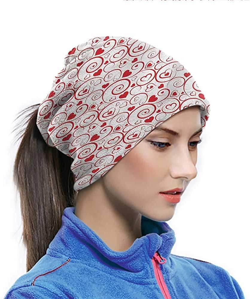Headbands Love, Ornamental Hearts and Swirls Sunscreen Breathable Bandana For Men women Sports/Outdoors 10 x 11.6 Inch