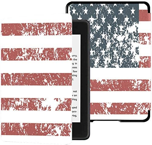 Colorful Star Case for All-New Kindle Paperwhite (10th Generation, 2018 Releases) - PU Leather Shell Cover with Auto Wake/Sleep for DHgate Kindle Paperwhite 2018 -US Flag