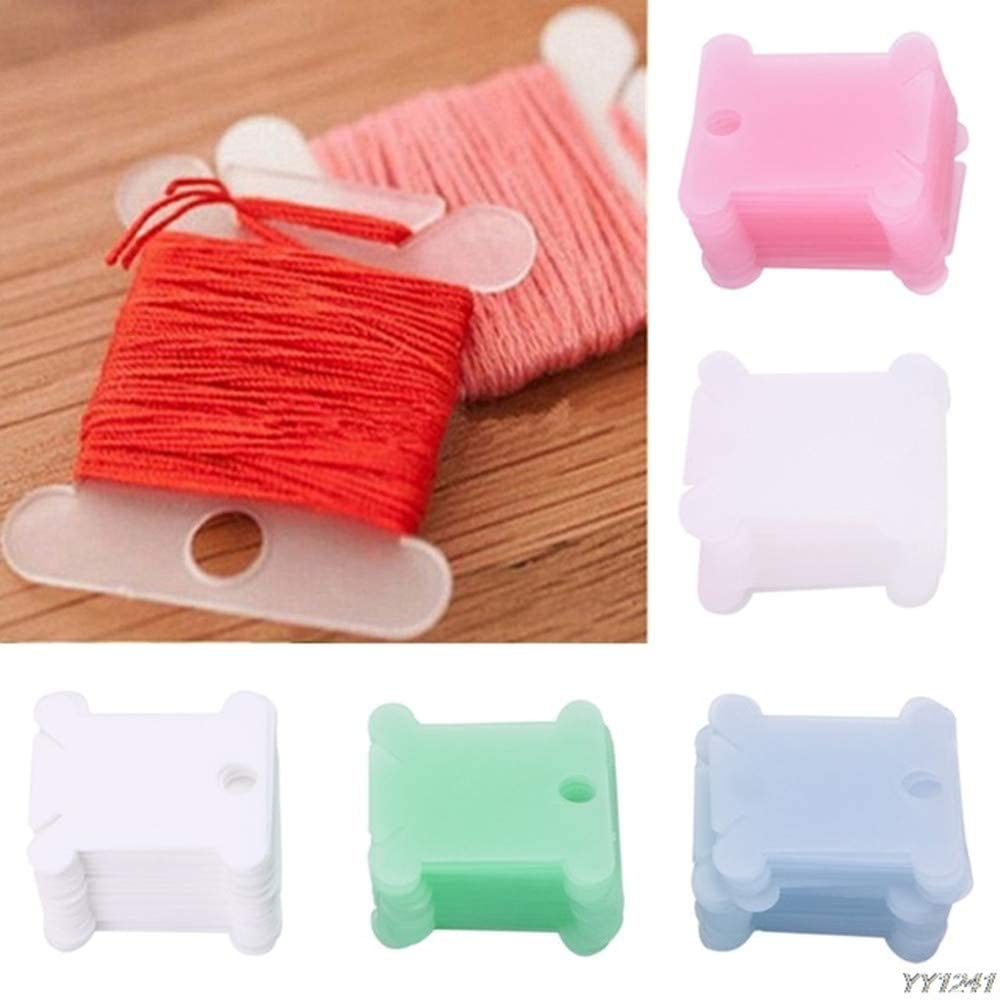 100 Pcs Plastic Embroidery Floss Bobbins Card Floss Bobbins Thread Organiser Storage Holder