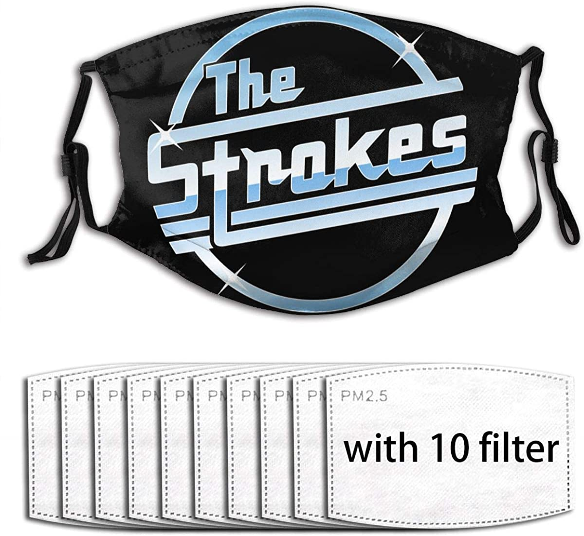 The Strokes Pattern Fashion Dust Mask Reusable