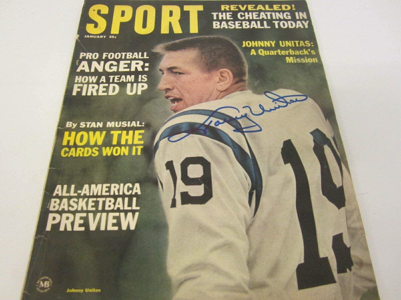 Johnny Unitas Autographed Signed Baltimore Colts Autographed 1965 Sport Magazine PSA DNA COA