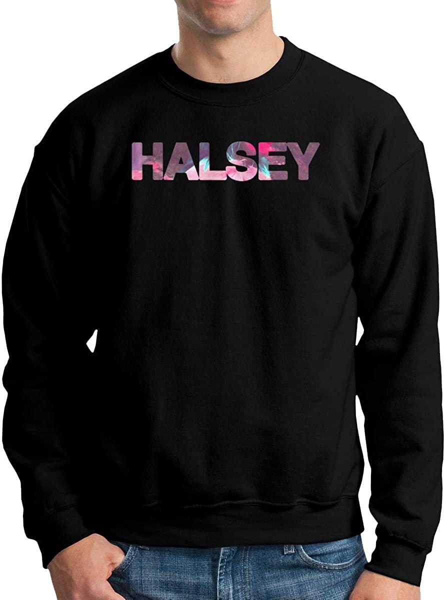 NOT Halsey Mens Crewneck Print Pullover Sweatshirt Sweater