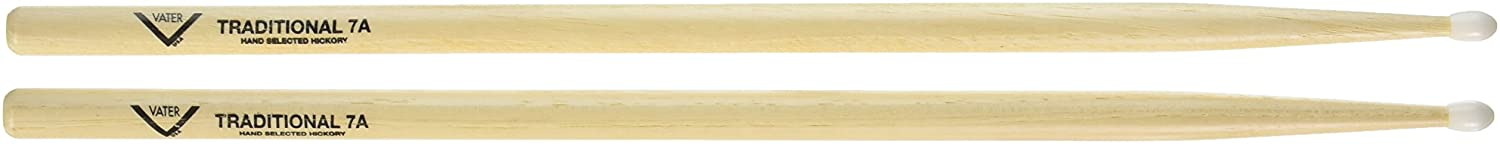 Vater Percussion VHT7AN Traditional 7A Nylon Tip Drumsticks
