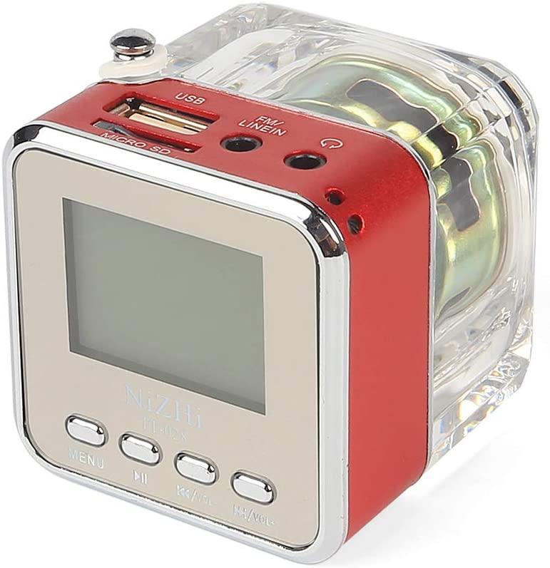 NiZHi TT-028 MP3 Mini Digital Portable Music Player Micro SD USB FM Radio (Red)