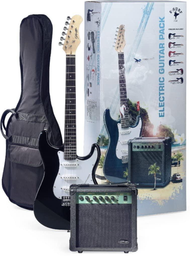 Stagg ESURF 250 US Surfstar Electric Guitar & Amplifier Package - Black