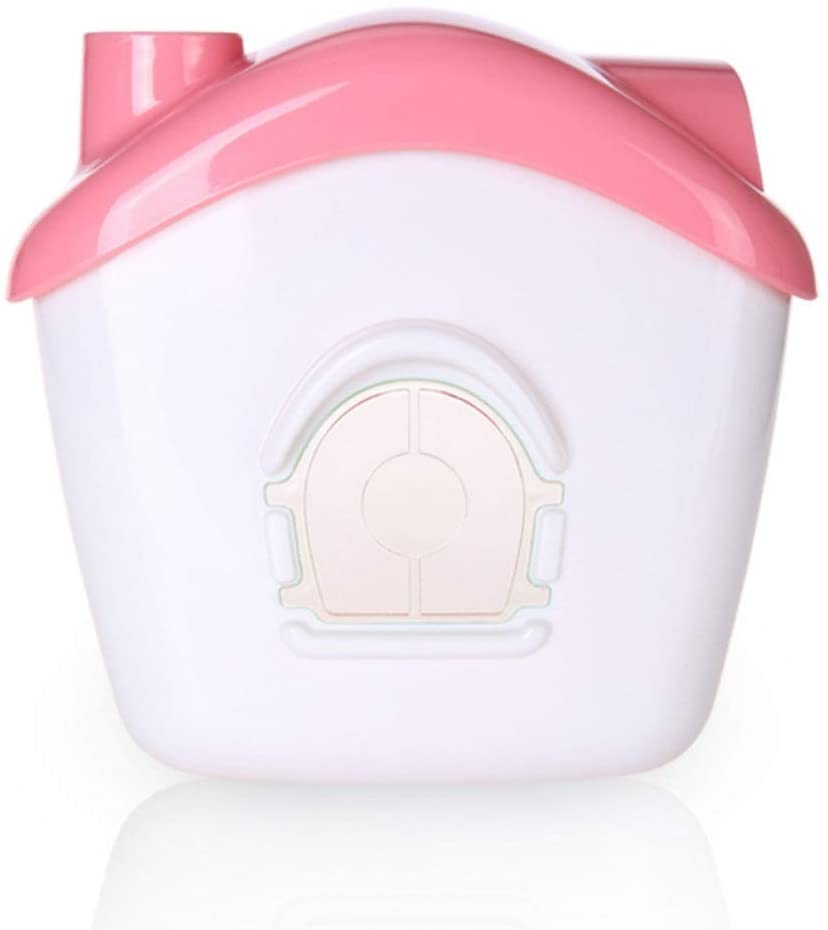 Creative house tissue box plastic sucker kitchen bathroom punch-free waterproof tissue box LM12191431WG (Color : Pink)