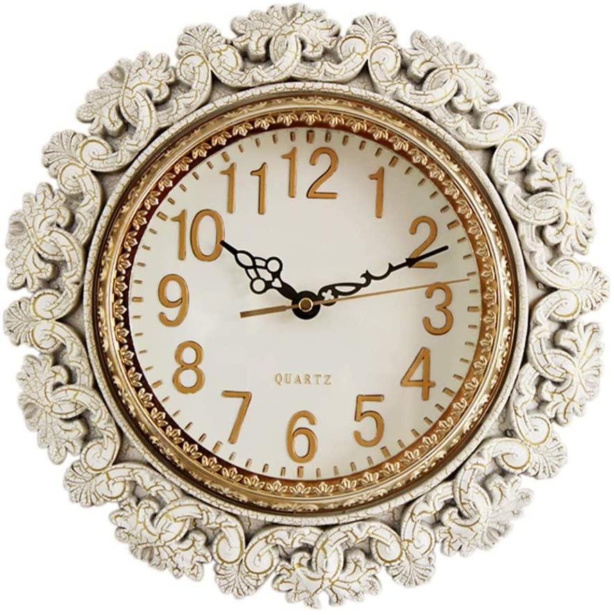 FJKAHGA 12-Inch Vintage Decorative Wall Clock Quartz Movement Classical Retro Bedroom Living Room Kitchen Wall Decoration