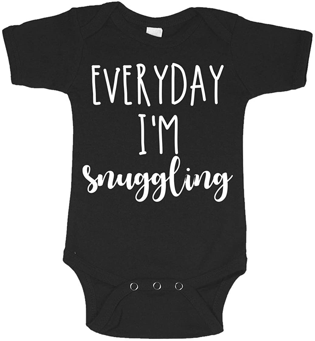 Everyday I'm Snuggling Gangster Funny Infant Baby Novelty One Piece Cute Bodysuit