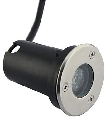 ZQ Character design LED 1pcs High Power LED Outdoors Warm/Pure/Cool White Under Ground Light AC/DC12V , warm white-black