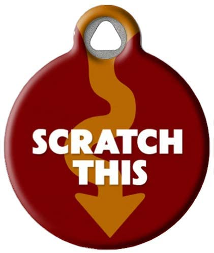 Dog Tag Art Scratch This - Custom Pet ID Tag for Dogs and Cats
