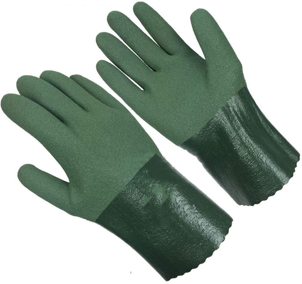 Ffrzd 10 Pairs of Latex Cut-Proof Gloves, Safety Work Gloves, Welding Work Gloves, Wood Carving, Driving and Outdoor Activities.