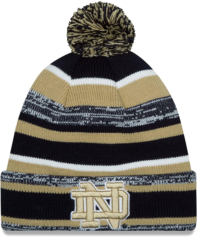 New Era NCAA Notre Dame Fighting Irish College NE14 Sport Knit Beanie, One Size, Blue