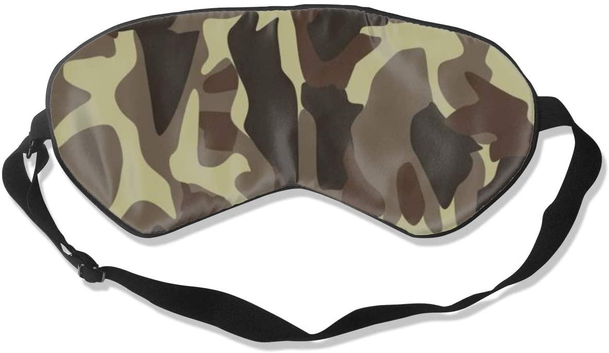 Sleep Eye Mask For Men Women,Camouflage Lines Soft Comfort Eye Shade Cover For Sleeping