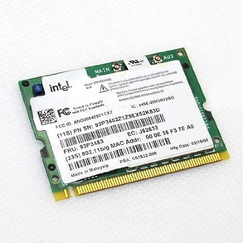 IBM Intel PRO / Wireless 2200 BG PCI Network Connection Card Dual Mode 802.11b /g 54Mpbs 2.4G