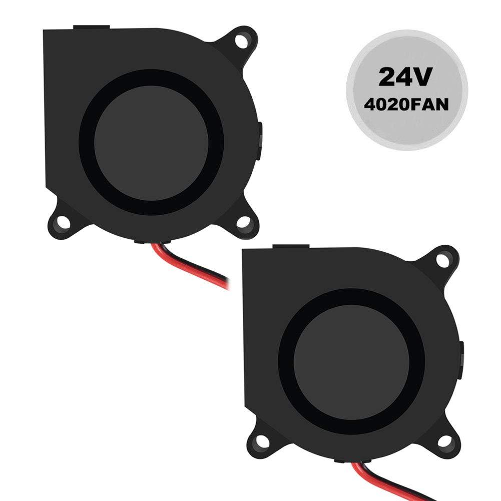 Dorhea 40mmx40mmx20mm Cooling Fan 24V, 4020 Blower DC Brushless Cooling Fan for Cooling 3D Printer Extruder Hotend- High Speed