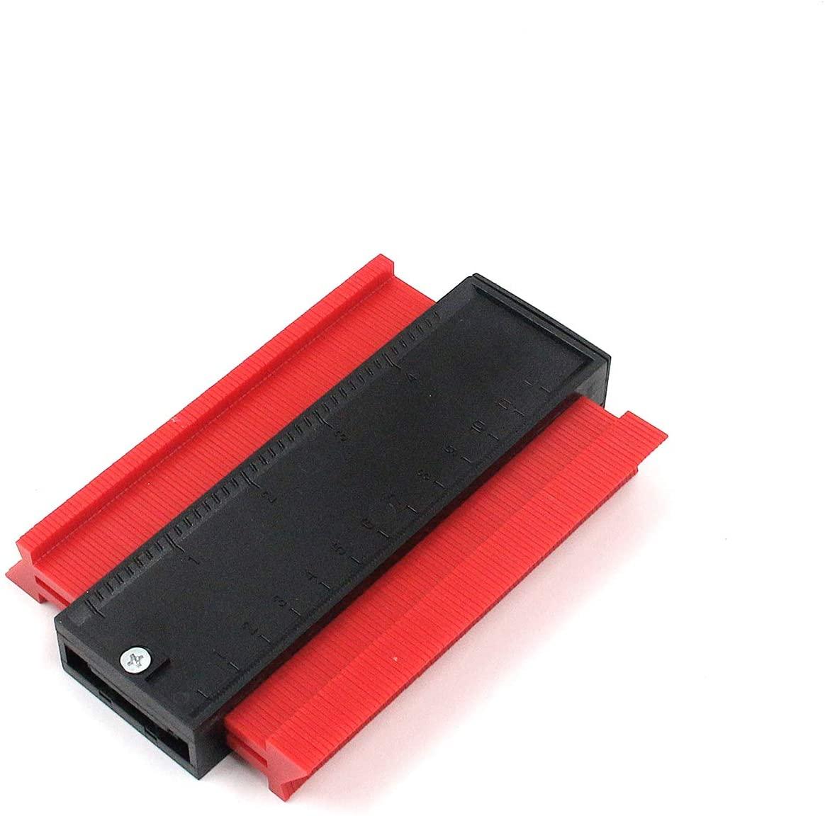 Tulead Red Contour Gauge Plastic Profile Guage Various Shape Contour Gauge Duplicator 5-Inch Woodworking Measurement Tool