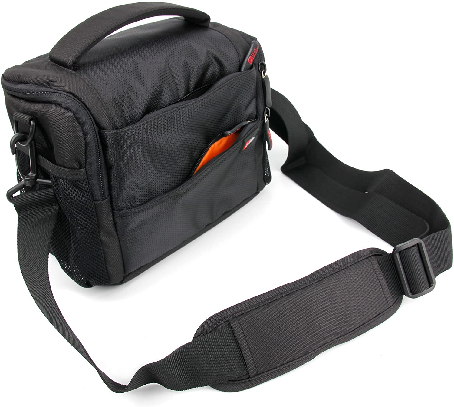DURAGADGET Black & Orange Shock-Absorbing & Water-Resistant Carry Bag - Compatible with NOCOEX 10X26 EX6119
