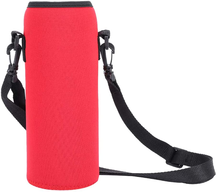 Tmtop Outdoor 1000ml Water Bottle Insulated Cover Neoprene Carrier Bag Pouch with Strap Blue