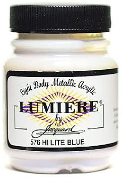 Jacquard Lumiere Artist Acrylics hi-lite Blue [Pack of 3 ]
