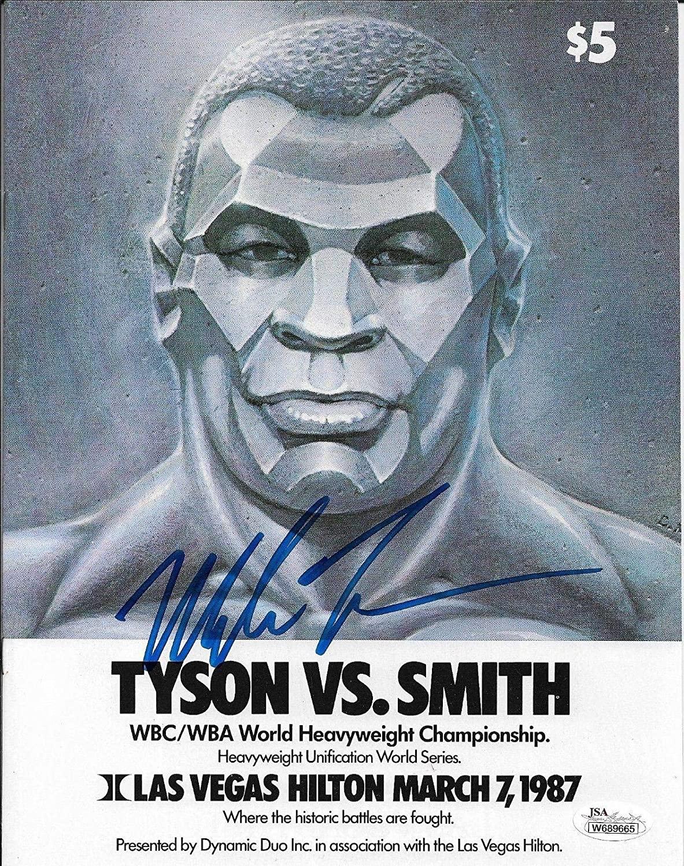 Mike Tyson Smith Original Fight Program Autographed Signed JSA W689665 - Autographed Boxing Magazines