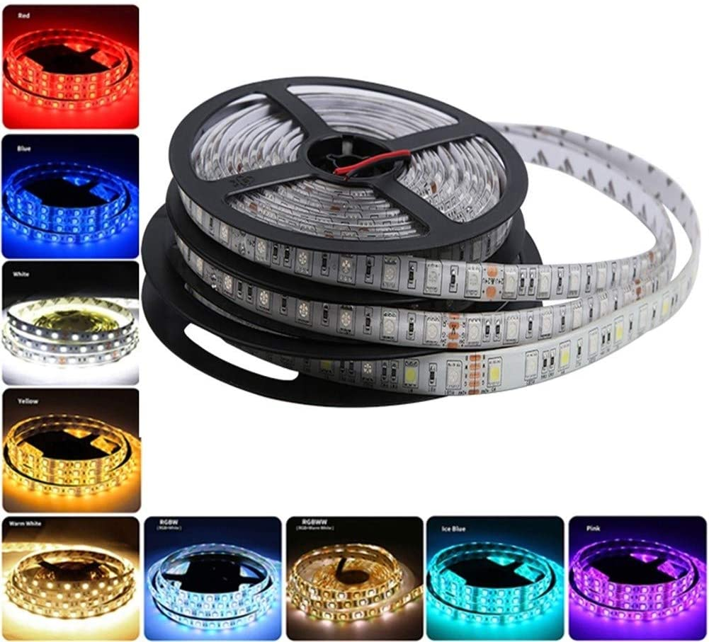 YYY Premium Led Strip Lights, Led Strip Lights with Remote RGB PC 5050 Waterproof Led Strip Lights for Bedroom,Room,Bedroom,Tv,Kitchen,Desk Professional & Upgraded