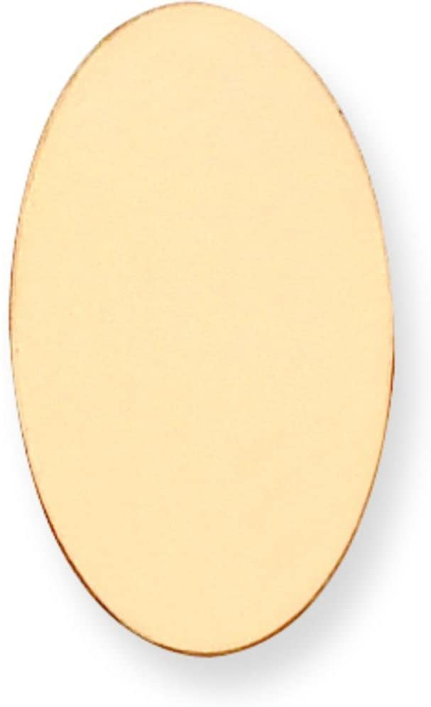 14K Gold Oval Stamping Disc 0.032