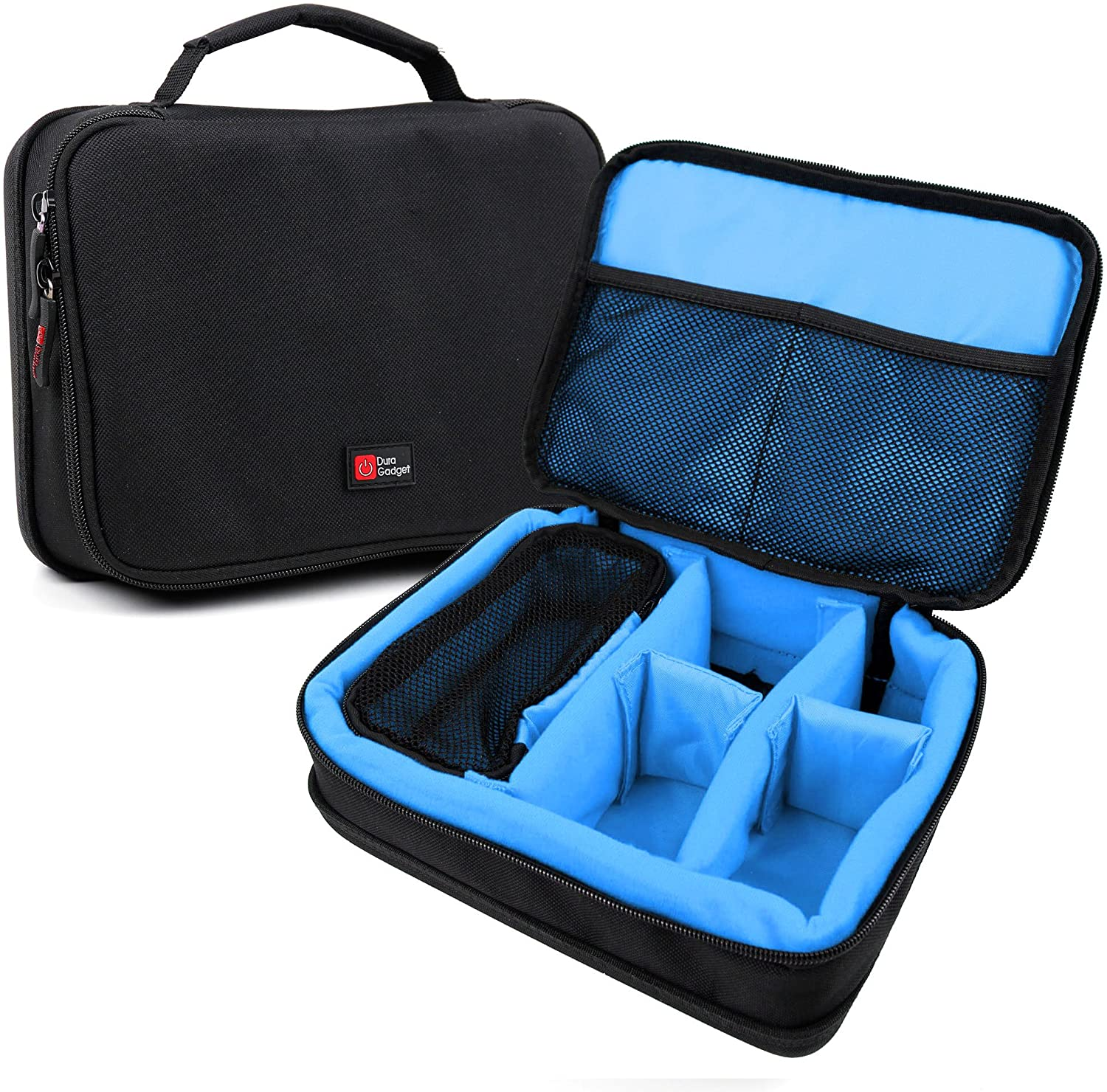 DURAGADGET Protective Black & Blue EVA Carry Case - Compatible with Contour Roam 3