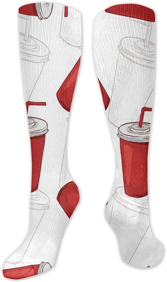 Knee High Socks For Men Women Sodas Or Colas Crew Hose Stockings
