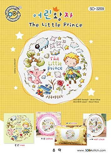 SO-3209 The Little Prince, SODA Cross Stitch Pattern leaflet, authentic Korean cross stitch design chart color printed on coated paper