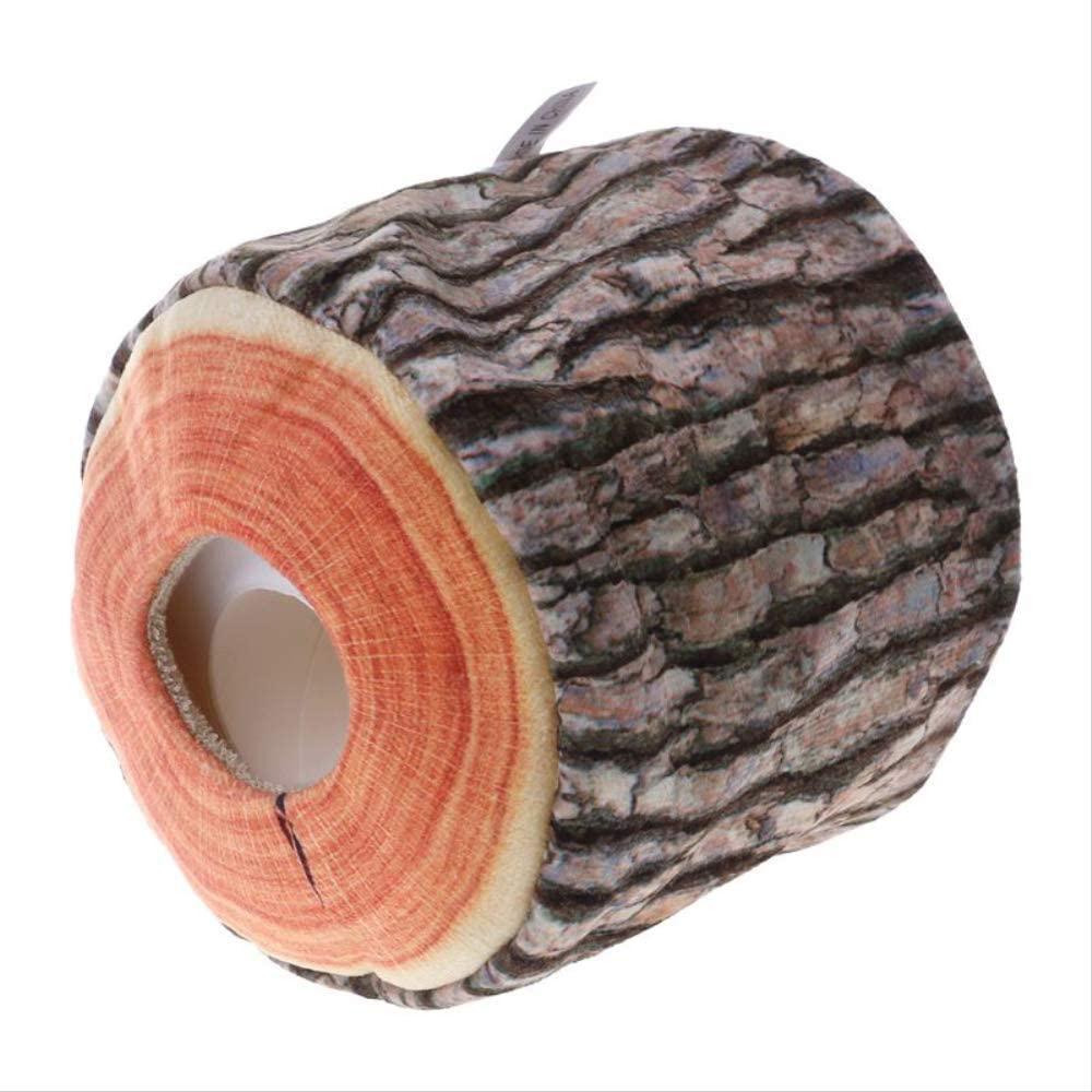 N/P Imitation Tree Bark Tissue Box Napkin Holder Case Paper Cover 11x9cm Home Kitchen Practical Decor Accessory