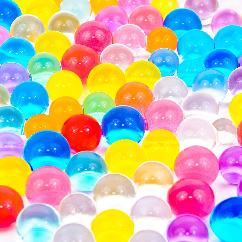 eBoot Floral Water Pearls Gel Soil Water Crystal Beads Jelly Water Pearl Vase Filler, 20000 Packs (Multicolor 1)