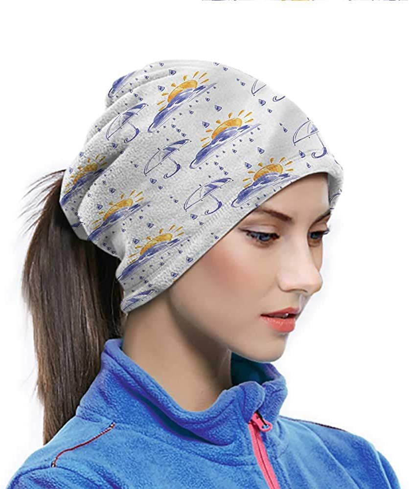 Sport Scarf Autumn, Aquarelle Pouring Rain Sun Breathable Face Cover Keep the Wind, Sun and Dirt off Your Face 10 x 11.6 Inch