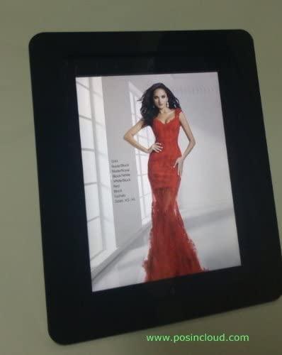 TABcare Compatible iPad Mini 1/2/3 VESA Mount Enclosure, Black Acrlyic Material for POS, Kiosk, Square Card Reader
