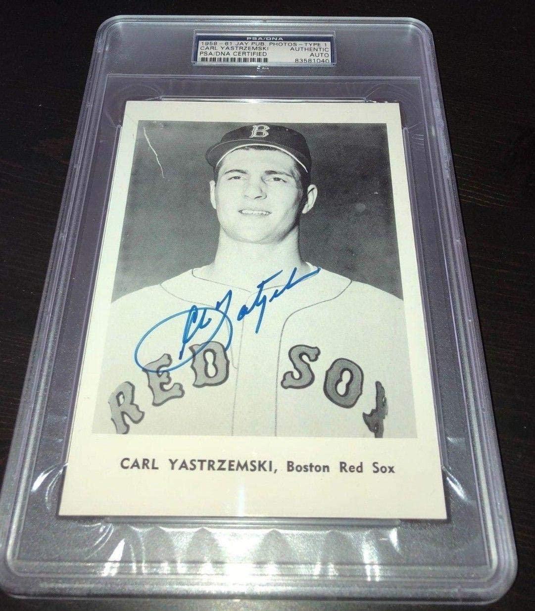 Carl Yastrzemski 1958-61 Jay Publishing signed auto PSA/DNA Type 1 Red Sox HOF - MLB Autographed Miscellaneous Items