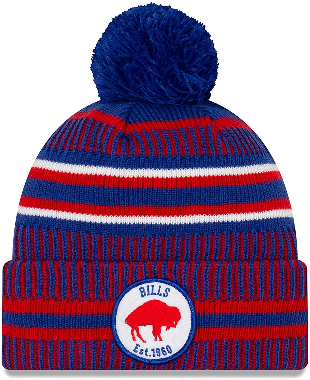 New Era Buffalo Bills Sideline Classic Logo Cold Weather Sport Knit Beanie