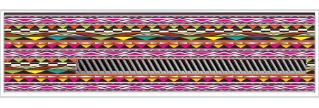Fun Tribal Design Bright Vinyl Decal Sticker Skin by Debbie's Designs for Xbox One Kinect