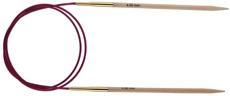 Knit Pro 80 cm x 5.5 mm Basix Fixed Circular Needles, Birch