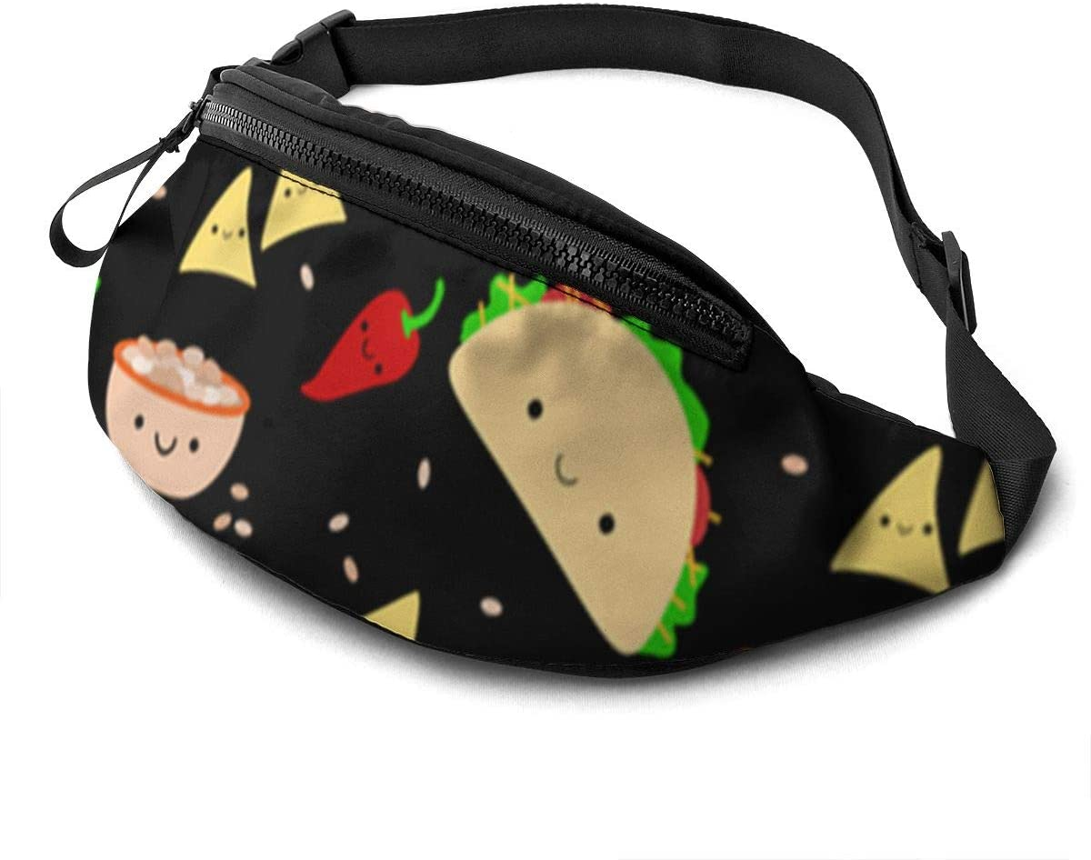 Taco Tuesday Party Fanny Pack for Men Women Waist Pack Bag with Headphone Jack and Zipper Pockets Adjustable Straps