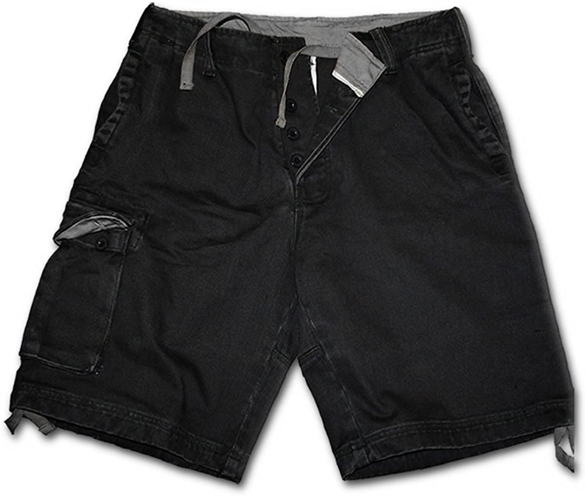 Spiral - Mens - Metal Streetwear - Vintage Cargo Shorts Black