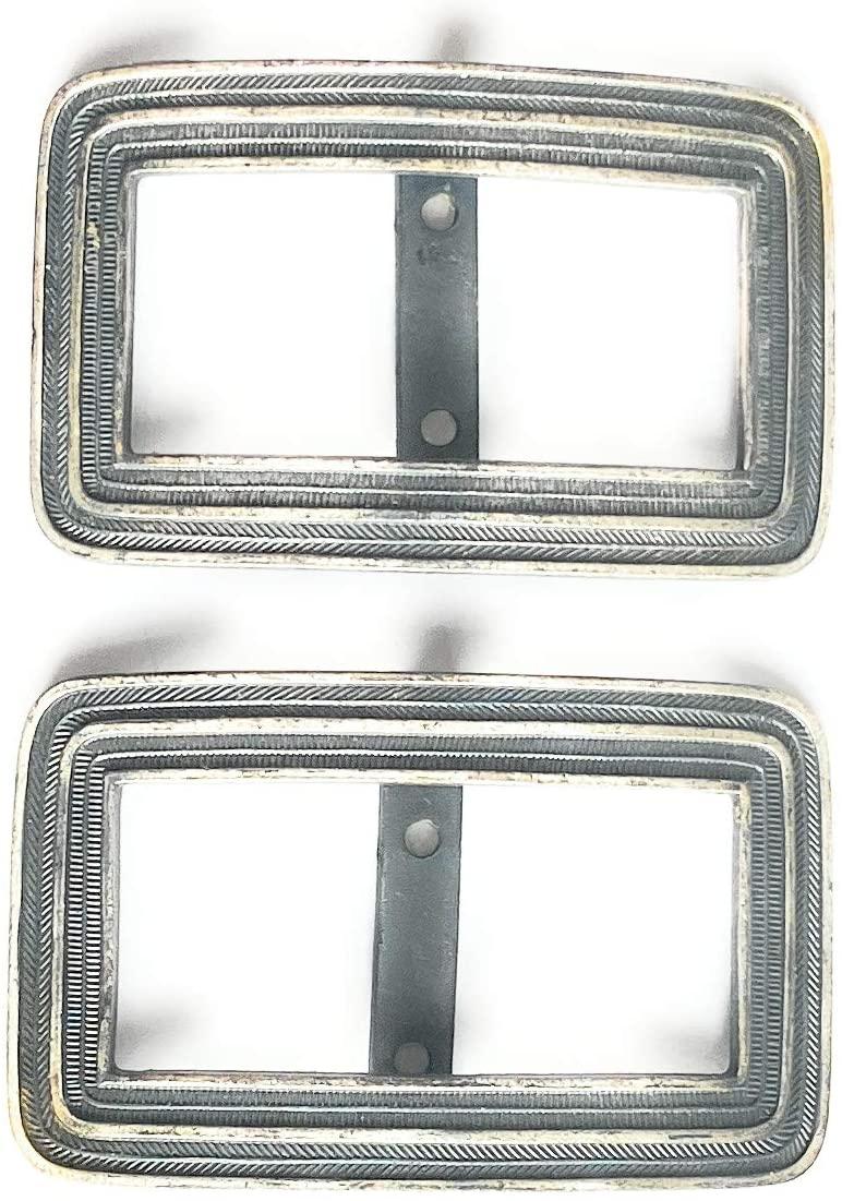 2 Fashion Belt Buckle - Silver/Pewter- 2 x 1.25 (3/4 Inch) Fashion Slider