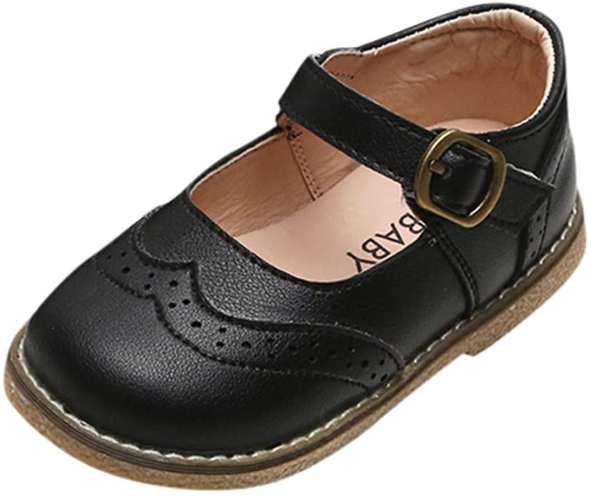 Toddler Infant Kids Baby Girls Boys Leather British Party Student Shoes Sandals Children's Leather Shoes Boys and