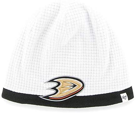 '47 NHL Child/Kid's Cuffless Grid Fleece Beanie Hat - Youth NHL Knit Skull Winter Cap