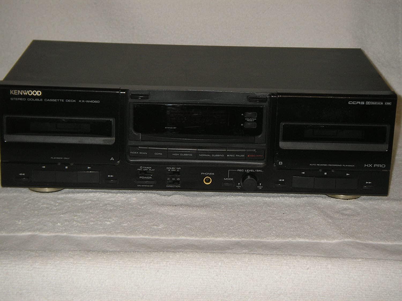 KENWOOD Stereo Double Cassette Deck, Model KX-W4060.
