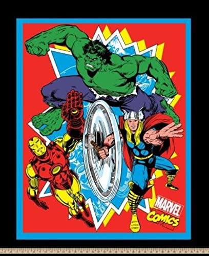Marvel Retro Comics No Sew Fleece Throw Kit, Multi